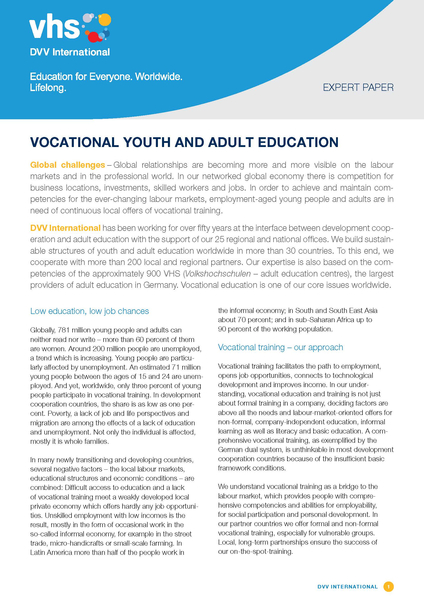 Adding international perspectives to vocational education essay