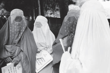 Afghani women in Kabul during elections