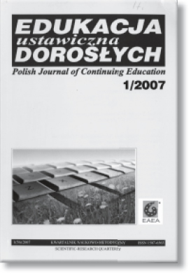Polish Journal of Continuing Education