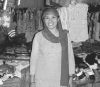 Lilie Mamao in her shop