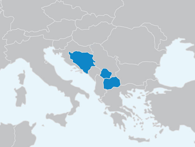 Carte Europe Du Sud Est.Dvv International Europe Du Sud Est